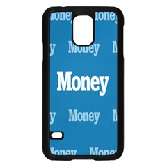 Money White Blue Color Samsung Galaxy S5 Case (black) by Mariart