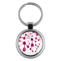 Molecular New Pink Purple Key Chains (round)  by Mariart