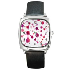 Molecular New Pink Purple Square Metal Watch by Mariart