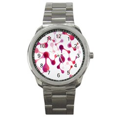 Molecular New Pink Purple Sport Metal Watch by Mariart