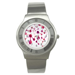 Molecular New Pink Purple Stainless Steel Watch by Mariart