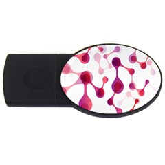 Molecular New Pink Purple Usb Flash Drive Oval (4 Gb) by Mariart