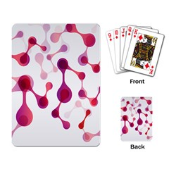 Molecular New Pink Purple Playing Card by Mariart