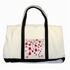 Molecular New Pink Purple Two Tone Tote Bag by Mariart