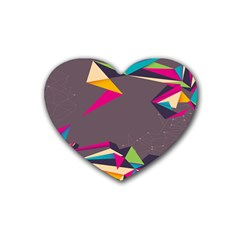 Origami Bird Japans Papper Heart Coaster (4 Pack)  by Mariart