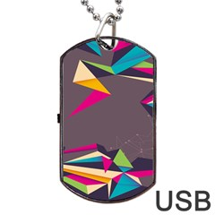 Origami Bird Japans Papper Dog Tag Usb Flash (two Sides) by Mariart