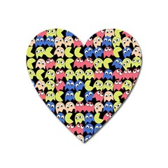Pacman Seamless Generated Monster Eat Hungry Eye Mask Face Color Rainbow Heart Magnet by Mariart