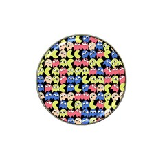 Pacman Seamless Generated Monster Eat Hungry Eye Mask Face Color Rainbow Hat Clip Ball Marker (10 Pack) by Mariart