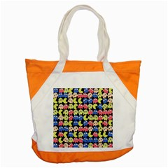 Pacman Seamless Generated Monster Eat Hungry Eye Mask Face Color Rainbow Accent Tote Bag