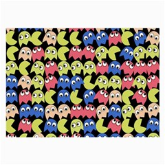 Pacman Seamless Generated Monster Eat Hungry Eye Mask Face Color Rainbow Large Glasses Cloth by Mariart