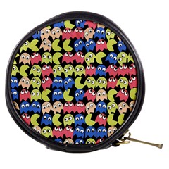 Pacman Seamless Generated Monster Eat Hungry Eye Mask Face Color Rainbow Mini Makeup Bags by Mariart