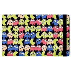 Pacman Seamless Generated Monster Eat Hungry Eye Mask Face Color Rainbow Apple Ipad 2 Flip Case by Mariart