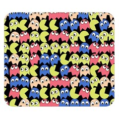 Pacman Seamless Generated Monster Eat Hungry Eye Mask Face Color Rainbow Double Sided Flano Blanket (small)  by Mariart