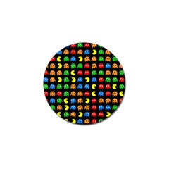 Pacman Seamless Generated Monster Eat Hungry Eye Mask Face Rainbow Color Golf Ball Marker (4 Pack) by Mariart
