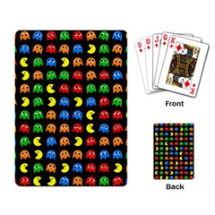Pacman Seamless Generated Monster Eat Hungry Eye Mask Face Rainbow Color Playing Card by Mariart