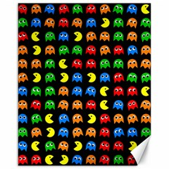 Pacman Seamless Generated Monster Eat Hungry Eye Mask Face Rainbow Color Canvas 16  X 20   by Mariart