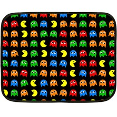 Pacman Seamless Generated Monster Eat Hungry Eye Mask Face Rainbow Color Double Sided Fleece Blanket (mini)  by Mariart