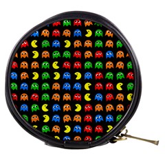 Pacman Seamless Generated Monster Eat Hungry Eye Mask Face Rainbow Color Mini Makeup Bags by Mariart