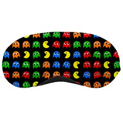 Pacman Seamless Generated Monster Eat Hungry Eye Mask Face Rainbow Color Sleeping Masks