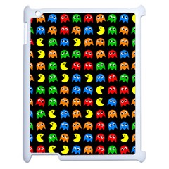 Pacman Seamless Generated Monster Eat Hungry Eye Mask Face Rainbow Color Apple Ipad 2 Case (white) by Mariart
