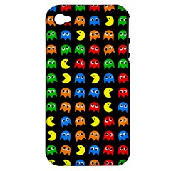 Pacman Seamless Generated Monster Eat Hungry Eye Mask Face Rainbow Color Apple Iphone 4/4s Hardshell Case (pc+silicone) by Mariart