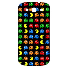 Pacman Seamless Generated Monster Eat Hungry Eye Mask Face Rainbow Color Samsung Galaxy S3 S Iii Classic Hardshell Back Case by Mariart