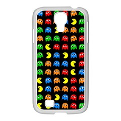 Pacman Seamless Generated Monster Eat Hungry Eye Mask Face Rainbow Color Samsung Galaxy S4 I9500/ I9505 Case (white)