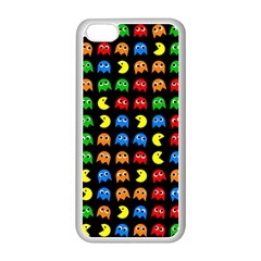 Pacman Seamless Generated Monster Eat Hungry Eye Mask Face Rainbow Color Apple Iphone 5c Seamless Case (white)