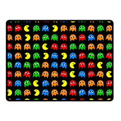 Pacman Seamless Generated Monster Eat Hungry Eye Mask Face Rainbow Color Double Sided Fleece Blanket (small)