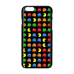 Pacman Seamless Generated Monster Eat Hungry Eye Mask Face Rainbow Color Apple Iphone 6/6s Black Enamel Case by Mariart
