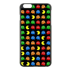 Pacman Seamless Generated Monster Eat Hungry Eye Mask Face Rainbow Color Apple Iphone 6 Plus/6s Plus Black Enamel Case by Mariart