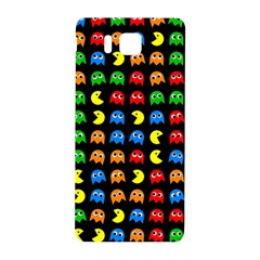 Pacman Seamless Generated Monster Eat Hungry Eye Mask Face Rainbow Color Samsung Galaxy Alpha Hardshell Back Case