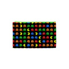 Pacman Seamless Generated Monster Eat Hungry Eye Mask Face Rainbow Color Cosmetic Bag (xs) by Mariart