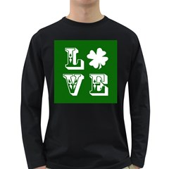 Parks And Tally Love Printable Green Long Sleeve Dark T Shirts
