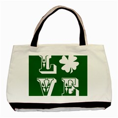 Parks And Tally Love Printable Green Basic Tote Bag by Mariart