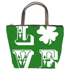 Parks And Tally Love Printable Green Bucket Bags by Mariart