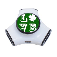Parks And Tally Love Printable Green 3 Port Usb Hub by Mariart