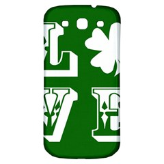 Parks And Tally Love Printable Green Samsung Galaxy S3 S Iii Classic Hardshell Back Case by Mariart