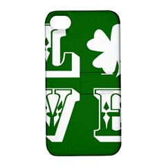 Parks And Tally Love Printable Green Apple Iphone 4/4s Hardshell Case With Stand by Mariart