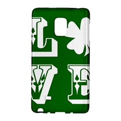 Parks And Tally Love Printable Green Galaxy Note Edge by Mariart