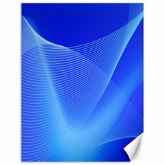 Line Net Light Blue White Chevron Wave Waves Canvas 12  X 16   by Mariart