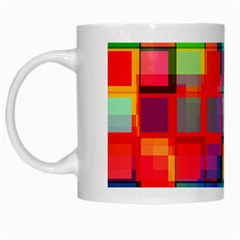 Plaid Line Color Rainbow Red Orange Blue Chevron White Mugs by Mariart
