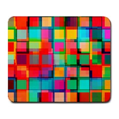 Plaid Line Color Rainbow Red Orange Blue Chevron Large Mousepads by Mariart