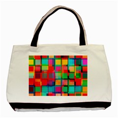 Plaid Line Color Rainbow Red Orange Blue Chevron Basic Tote Bag by Mariart
