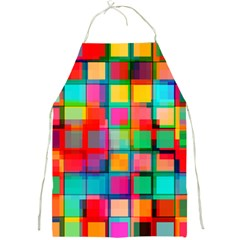 Plaid Line Color Rainbow Red Orange Blue Chevron Full Print Aprons by Mariart