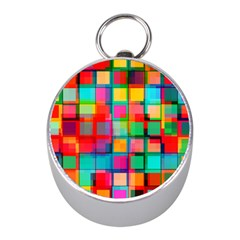 Plaid Line Color Rainbow Red Orange Blue Chevron Mini Silver Compasses by Mariart