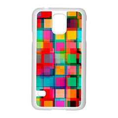 Plaid Line Color Rainbow Red Orange Blue Chevron Samsung Galaxy S5 Case (white) by Mariart