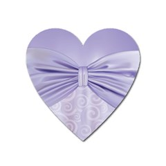 Ribbon Purple Sexy Heart Magnet by Mariart