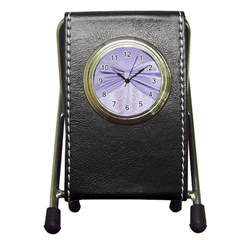 Ribbon Purple Sexy Pen Holder Desk Clocks by Mariart