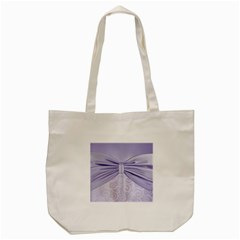 Ribbon Purple Sexy Tote Bag (cream) by Mariart